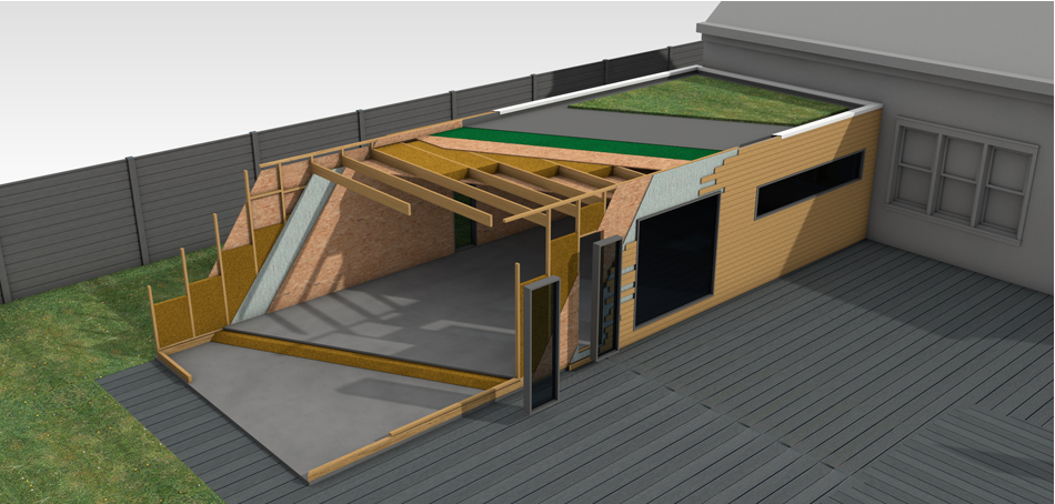 Extension bois et passion for Cout agrandissement garage