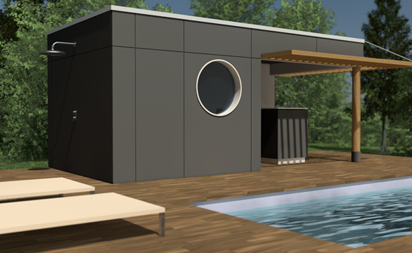 Pool house bois et passion for Chauffer un garage non isole